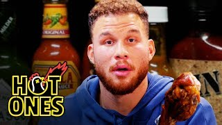 Blake Griffin Gets Full-Court Pressed By Spicy Wings   Hot Ones