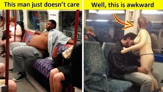 People Getting Entirely Too Comfortable on Public Transportation