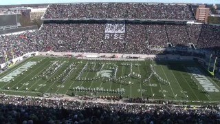 Spartan Marching Band: 'The Art Of The March' Halftime | MSU vs Maryland : 11.14.2015