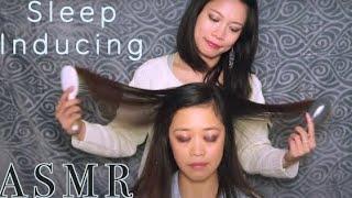 ASMR Relaxing Hair Brushing , Scalp Massage & Countdown from 100