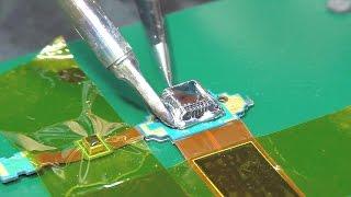 Замена micro-USB разъёма паяльником #2. Планшет Samsung GT-P5200