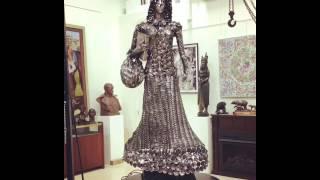 Pioneer Woman Metal Sculpture