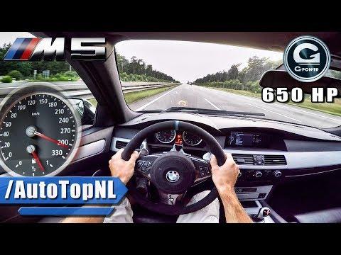 BMW M5 V10 BI SUPERCHARGED G POWER AUTOBAHN POV by AutoTopNL