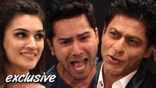 DIWALE | Most FUNNY Interview | Shah Rukh Khan, Varun Dhawan & Kriti Sanon | SpotboyE