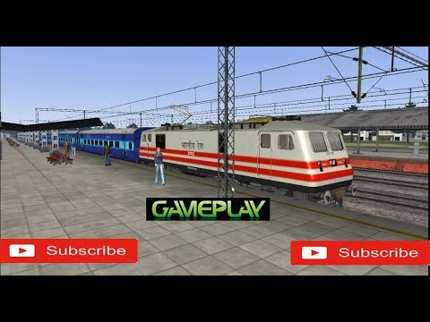 Indian Electric Engine driving in Train Simulator 2014