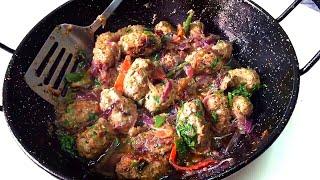 how to make Kebab Masala - seekh kabab recipe - with english subtitles