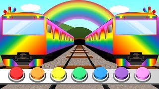 Color train for Kids | Learn colors | 踏切こどもアニメ