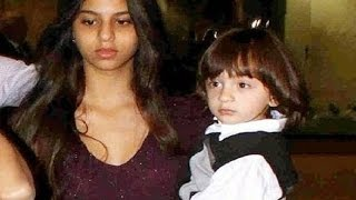 Shahrukh Khan Daughter Suhana Carrying Cute Abram At Airport