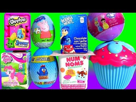 Elsa Cupcake Surprise Disney Princess NUM NOMS My Little Pony Galinha Pintadinha Peppa Pig SHOPKINS