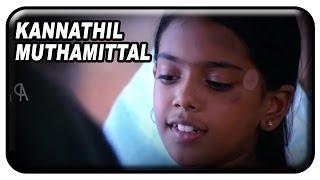 Kannathil Muthamittal Tamil Movie Scenes | Keerthana meets her real mother Nandita Das