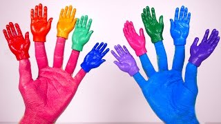 Body Paint and Learn Colors with Finger Family Nursery Rhymes and Songs