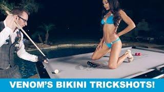 Ozone Billiards SEXY BIKINI TRICK SHOTS - Venom Trickshots III: Ep 1