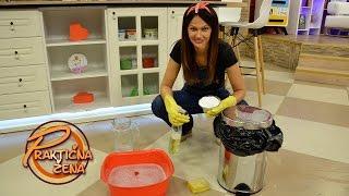 Praktična žena - Kako očistiti kantu za smeće