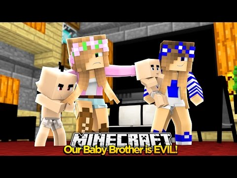 Minecraft Royal Family: NAMING OUR EVIL BABY BROTHER!! w/Little Kelly & Little Carly