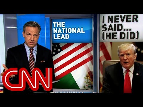 Tapper Trump denies wall claim Roll the tape