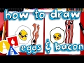 How To Draw Cute Eggs And Bacon