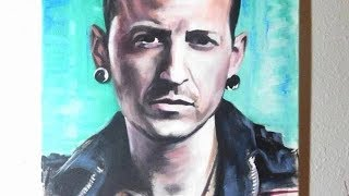 Painting Chester Bennington from Linkin Park - RIP!!