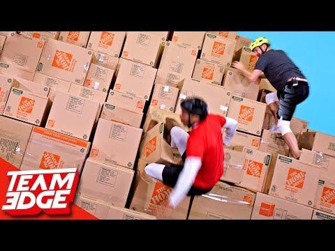 GIANT Box Pyramid Climb!!