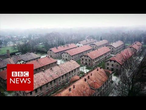 Xxx Mp4 Auschwitz Drone Video Of Nazi Concentration Camp BBC News 3gp Sex