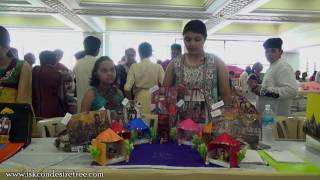 Exhibition at ISKCON Mira Road on May 1st 2016 on 7 Main temples of Vrindavan by Niti, Aastha & Dhri