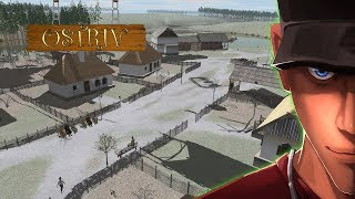 Ostriv Part 1 - First look and First village   Let's play Ostriv Gameplay