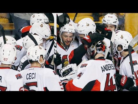MacArthur scores OT winner Senators eliminate Bruins