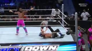 Smackdown - AJ Style vs The New Day Kofi Kingston