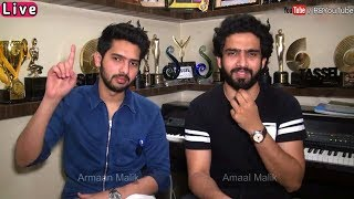 ARMAAN MALIK and AMAAL MALIK Live | Brothers love | on Rediff | interview​