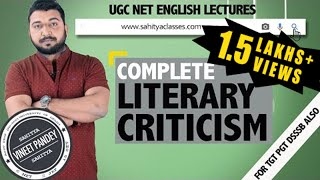 Complete LITERARY CRITICISM  For NTA Net English By Vineet Pandey (6 NET 2 JRF 15 SET Qualified)