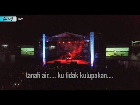 ketika LAGU NASIONAL di Konser EDM - ALFFY REV LIVE in Concert 2 Stage - Part 2