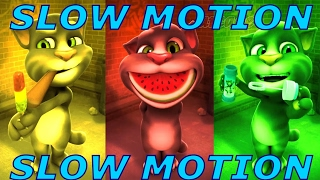 Learn Colors with My Talking Tom SLOWMO Colours for Kids Education Cartoon Reaction Compilation EP1