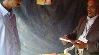 Gahdi at Book Fair in Mekelle, Ethiopia