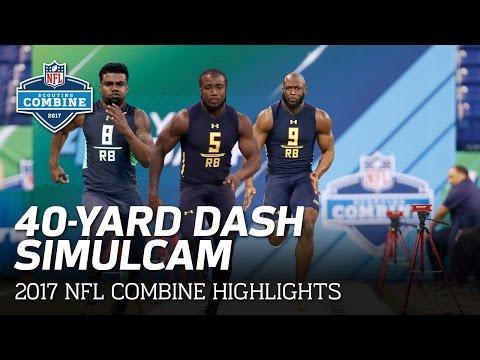 40 Yard Dash SimulCam Highlights Ezekiel Elliott vs. Fournette vs. Cook & More NFL