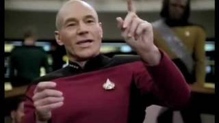 Captain Picard Battles Daimon Tog for Lwaxana Troi
