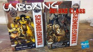 Unboxing TF5 Premier Edition DELUXE CLASS Bumblebee/Beserker  [German/Deutsch]