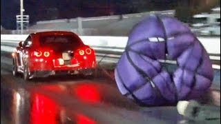 We found the Fastest GTR in the WORLD! (wItH a PaRacHuTe)