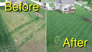 Before And After Fertilizer Results - Mowing My Neighbors Deep Grass