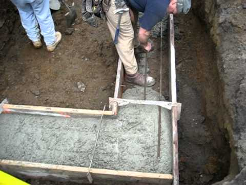 Rebar in the footer