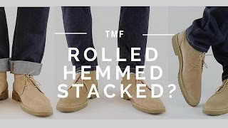 How to Wear Jeans   Stacked, Rolled, Cuffed, Hemmed