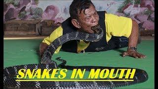 SNAKE IN MOUTH😱 | Original Snake Game Street Performance By Snake Charmer | Binodhon Xpress