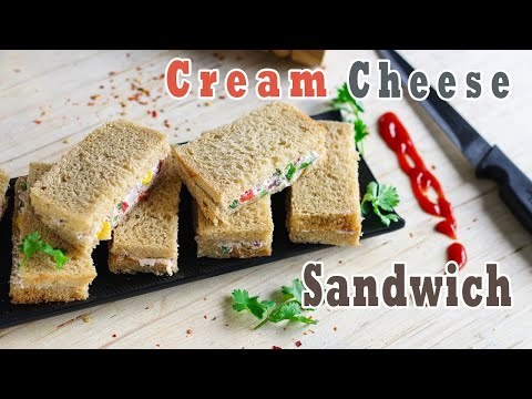 Cream Cheese Sandwiches | Sandwich Recipes | Breakfast Recipes | Ep-211