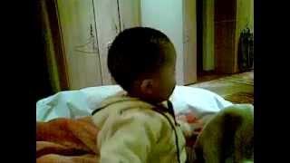 20 month old singing Joyous celebration