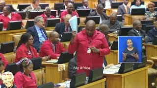 Chaos In Parliament - EFF Ask For Secret Ballots To Remove Zuma