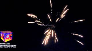 Happy Family Fireworks/300 GRAM CAKES/ JL1582 20shot Brocade/crackling willow/color/crackling(387)