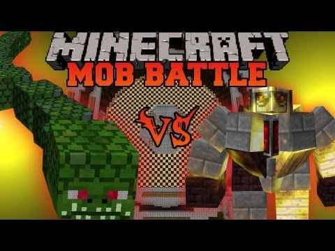 BIG Golem Vs. Naga - Mob Battles - Mo' Creatures and Twilight Forest Mods