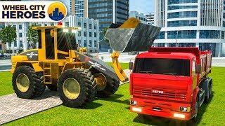 Construction Truck Excavator Building Fountain - Wheel City Heroes (WCH) - New Cartoon