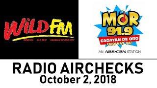 Airchecks Corner: DXWZ 94.3 Wild FM And DXEC MOR 91.9 CDO [02-OCT-2018]