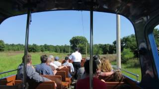 Riding the Blackpool Open Car Trolley at National Capital Trolley Museum - Colesville MD