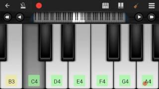 Mein Hoon Gaon Ki Gori Babu Rang Lehri for keyboard beginners on Perfect Piano.......STRJDM
