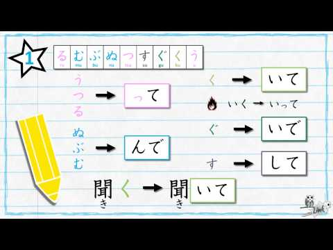 Learn Japanese verb conjugation: TE form (て形)